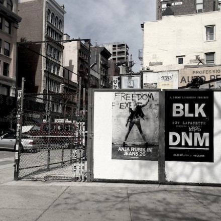 10th BLK DNM Wild Poster in Downtown NYC