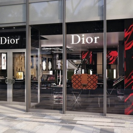 Dior perfume and beauty boutique in Tokyo