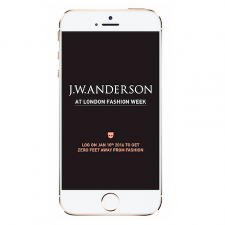 J.W. Anderson FW16 Show live stream on Grindr