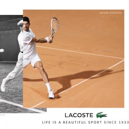 Novak Djokovic for LACOSTE