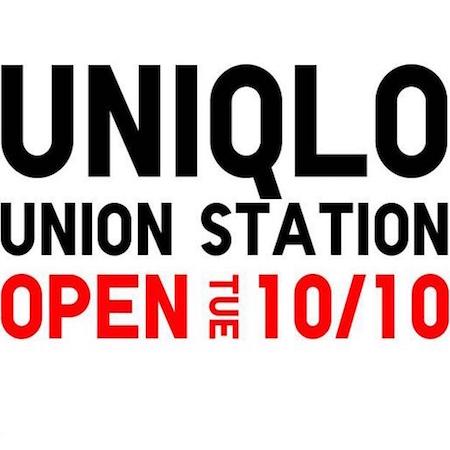 Uniqlo Union Station (D.C.) to Open 10/10